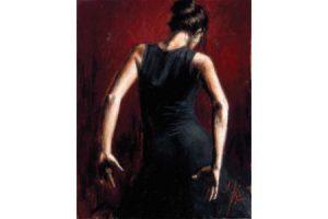 El Baile del Flamenco en Rojo II painting