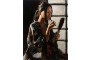 Geisha with Mirror painting