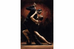 Love of Tango painting