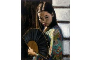 Study for Japanese Girl painting