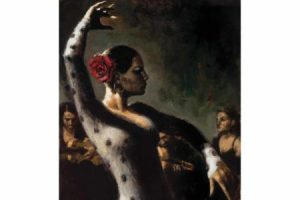 Study for Tablado Flamenco III painting