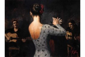 Tablado Flamenco V painting