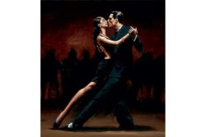 Tango in Paris Black Suit painting