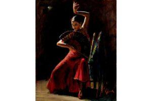 Celina con Abanico V painting