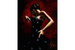 El Baile del Flamenco en Rojo with Polka Dots painting