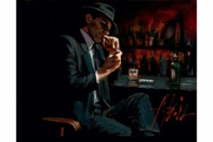 Study for Man Lighting Cigarette painting