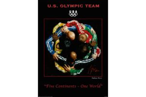 5 Continents 1 World Poster painting