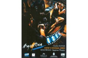 Argentine Cinema Hollywood Festival Poster painting
