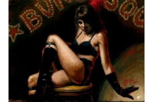 Burlesque painting