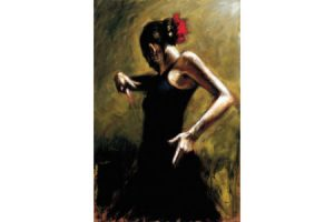 Dancer in Black painting
