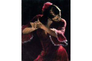 Flamenco V painting