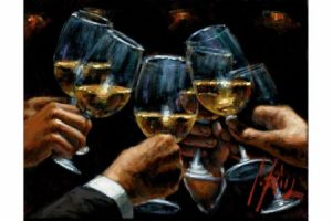 For a Better Life White Wine with Reflections painting
