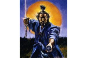 Samauri Miyamoto Musashi painting