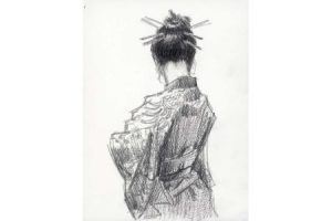Study for Geisha Pencil painting