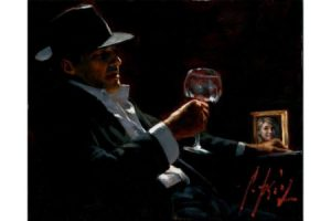 Tinto II with Red Wine painting