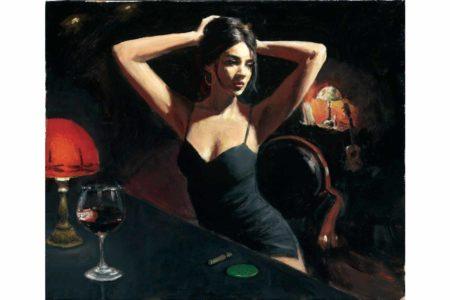 Yelena with Tiffany painting