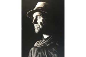 Phil Campbell of Motorhead painting