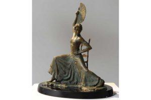 Flamenco Dancer with Fan sculpture