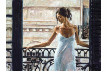 Balcony at Buenos Aires painting