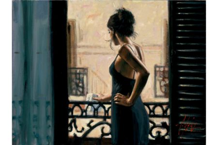Balcony at Buenos Aires IX painting