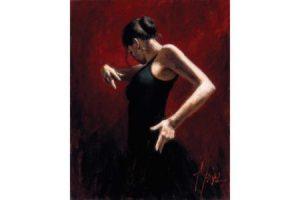 El Baile del Flamenco en Rojo painting