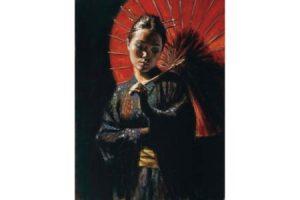 Geisha III painting