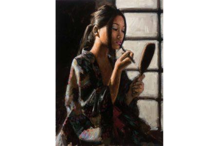 Geisha with Mirror painting