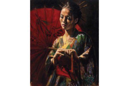 Michiko painting