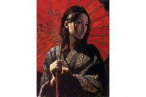 Michiko II painting