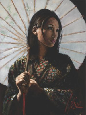 Michiko II with White Umbrella