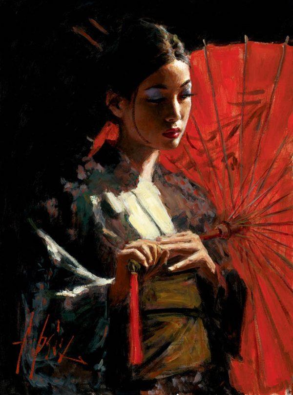 Michiko with Red Umbrella