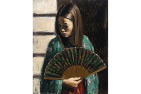 Study for Japanese Girl III painting
