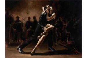 Tango Zapatos Blancos painting