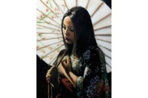 White Umbrella painting