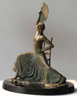 Flamenco Dancer with Fan (sculpture)