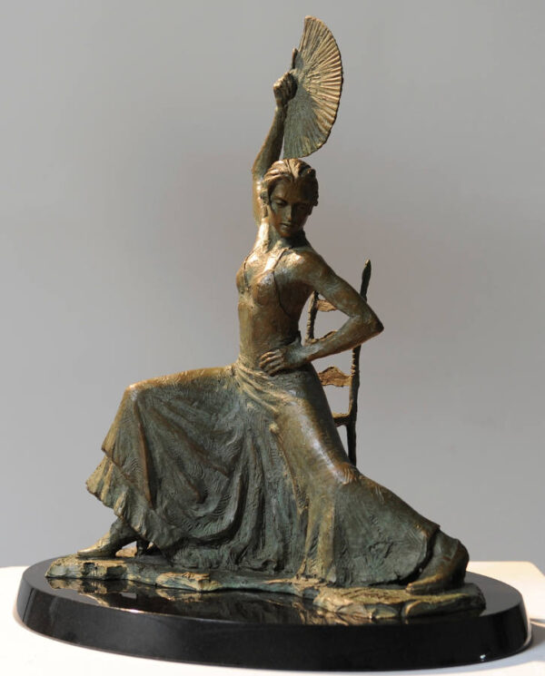 Flamenco Dancer with Fan (sculpture)