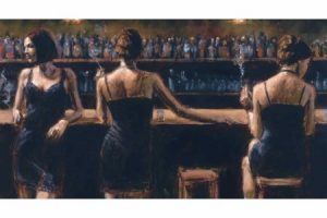 3 Girls at the Bar painting