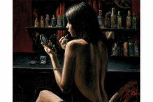 Anna at the Bar painting