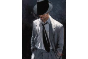 Man in White Suit IV painting