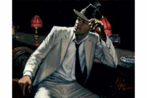 Man in White Suit V painting