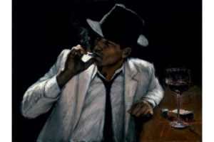 Man in White Suit VI painting