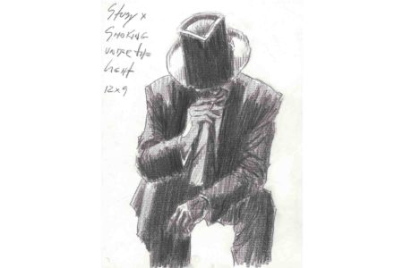 Smoking Under the Light sketch