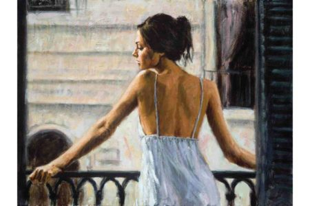 Balcony at Buenos Aires II painting