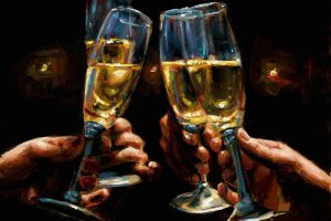 Brindis con Champagne - Horizontal