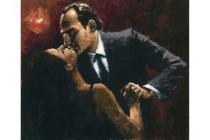 Embace of Tango painting