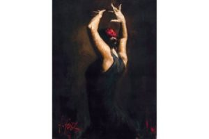 Flamenco IV painting