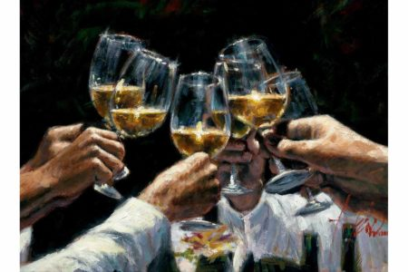For a Better Life II White Wine painting