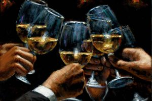 For a Better Life White Wine with Reflections