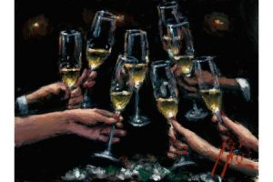 For a Better Life with Champagne painting