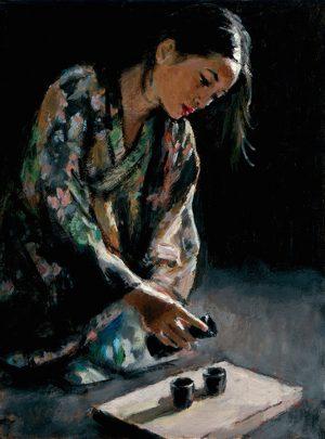 Geisha Pouring Sake